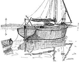drawing of the Bawley Storm