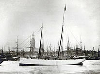 launch of pilot schooner No 5 Elbe