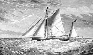 Orion rigged as a yawl