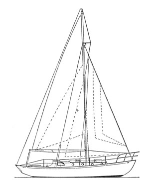 sail plan of Restive