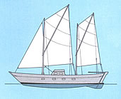 sail plan of Tangaroa