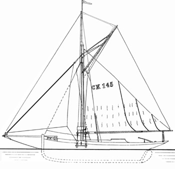 sail plan of Betty CK145