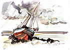 water color of boat after grounding