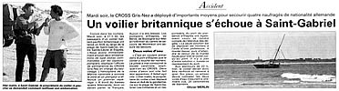 article in local french paper