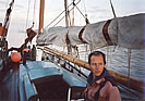 Rudi Franke is Betty's Skipper on the River Elbe